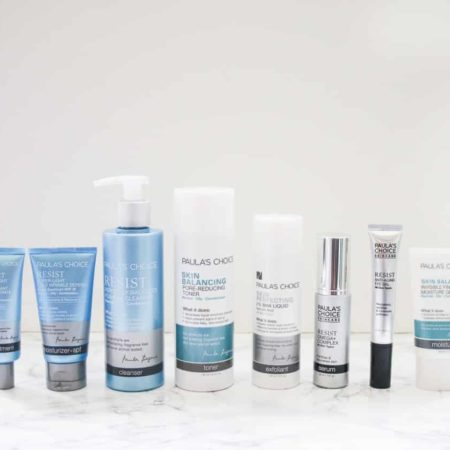 Skincare Routine with Paula's Choice products