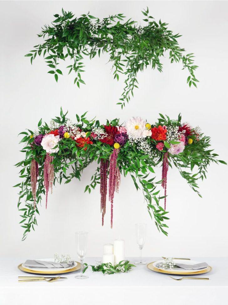DIY Flower Chandelier Tutorial
