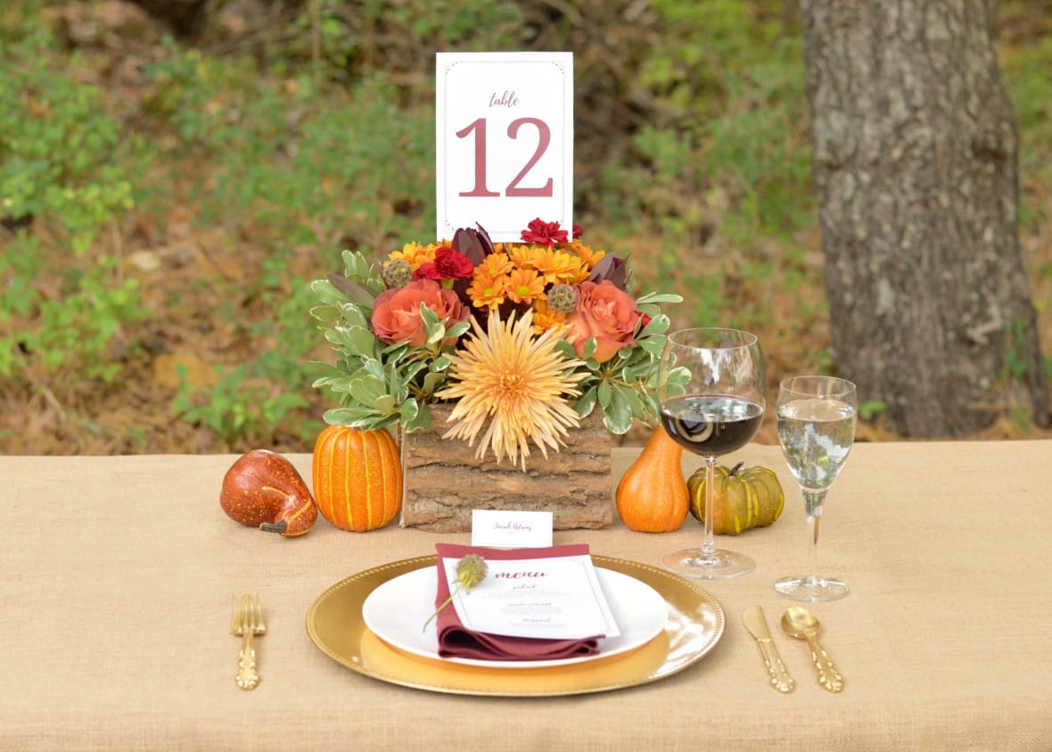 Romantic Fall Wedding Inspiration by Blooms by the Box