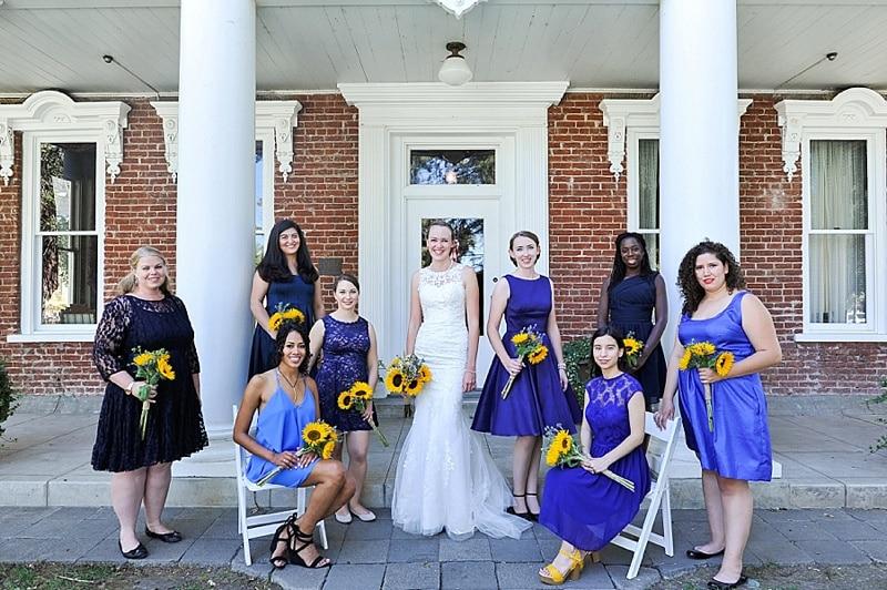 purple bridal party attire
