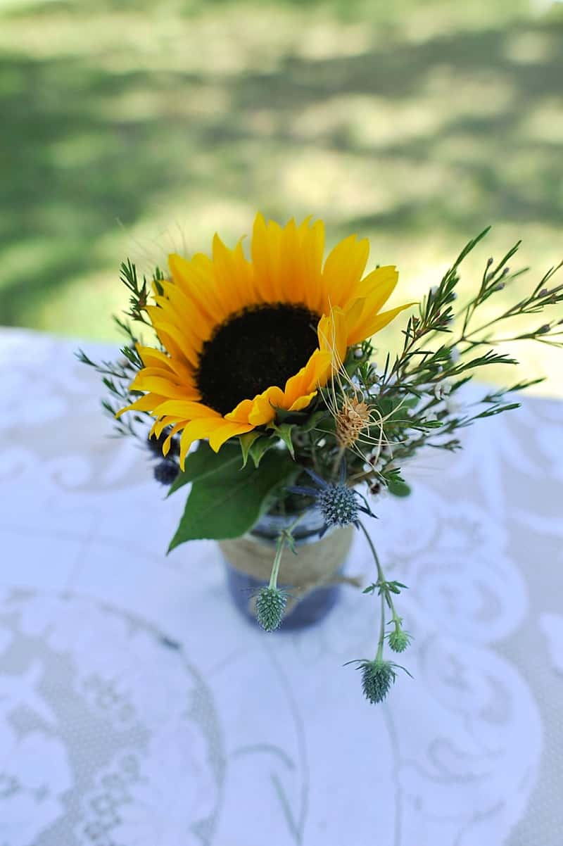 California Wedding With Sunflower Details The Budget Savvy Bride