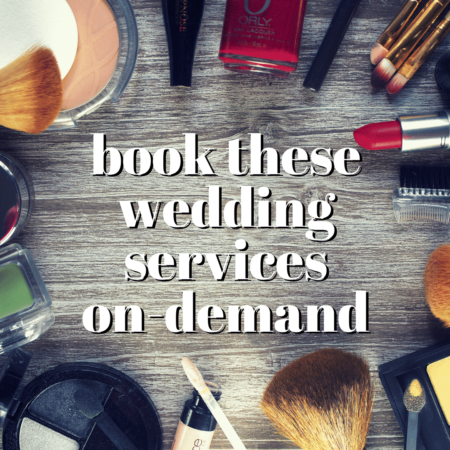 book these wedding services on-demand