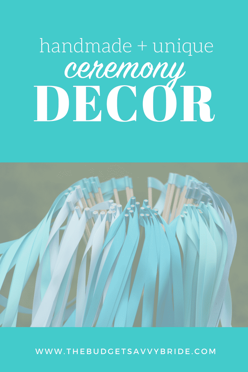 To make your big day extra special, forego the generic party store decorations and instead consider Etsy for handmade and unique ceremony decor.