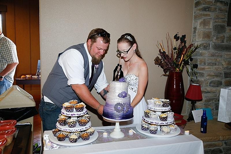 ombre wedding cake