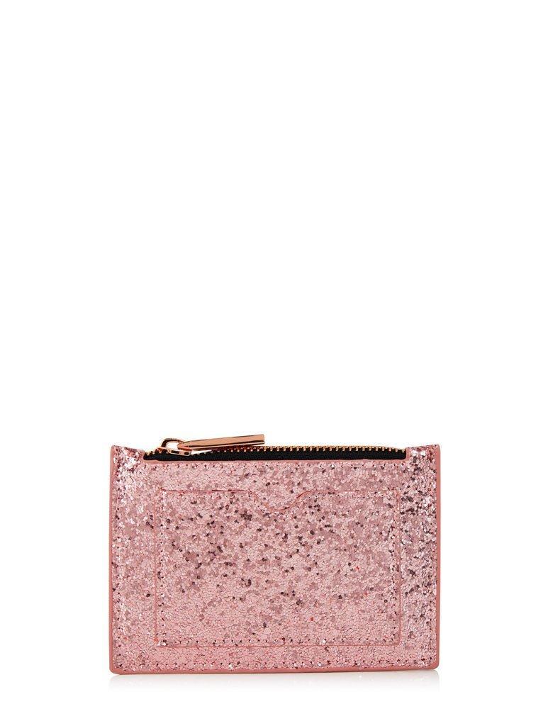 Skinnydip rose gold glitter coin purse