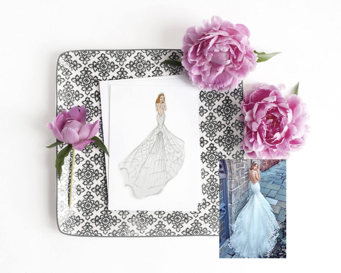 eliza gwendalyn bridal sketch