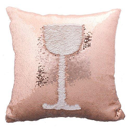 rose gold sequin pillow