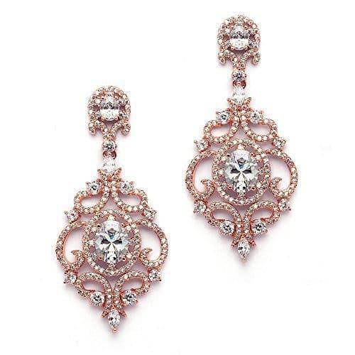 rose gold earrings