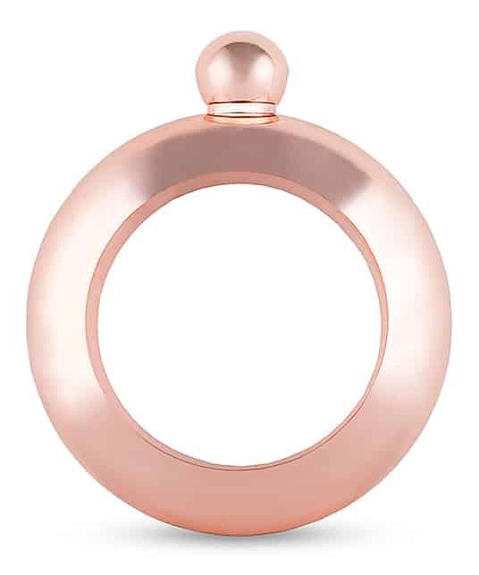 rose gold flask bracelet