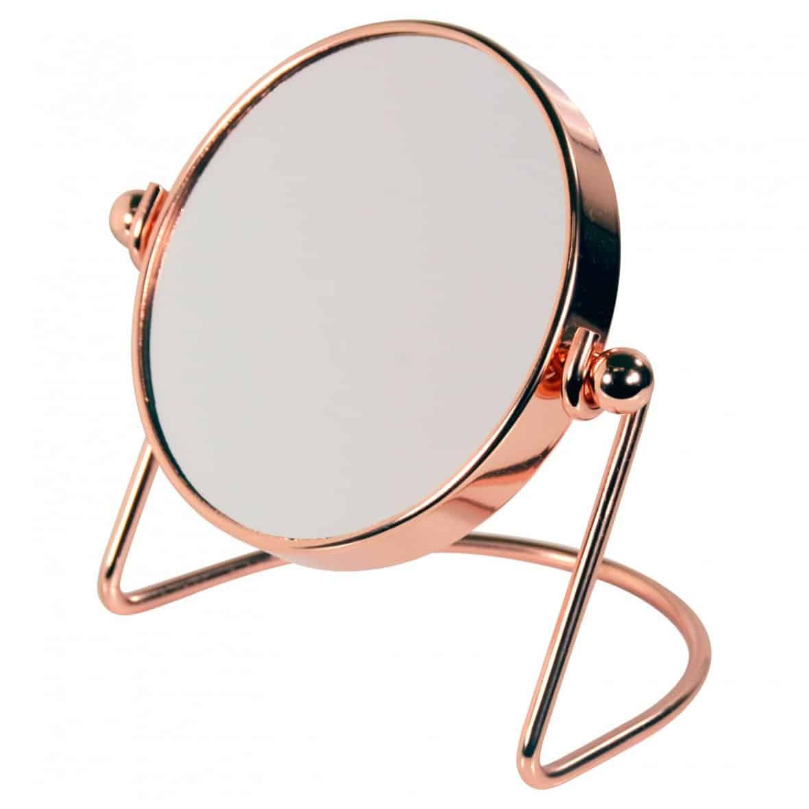 rose gold mini mirror