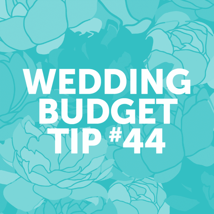 Wedding Budget Tip 44: Find a photographer who offers his or her services a la carte.