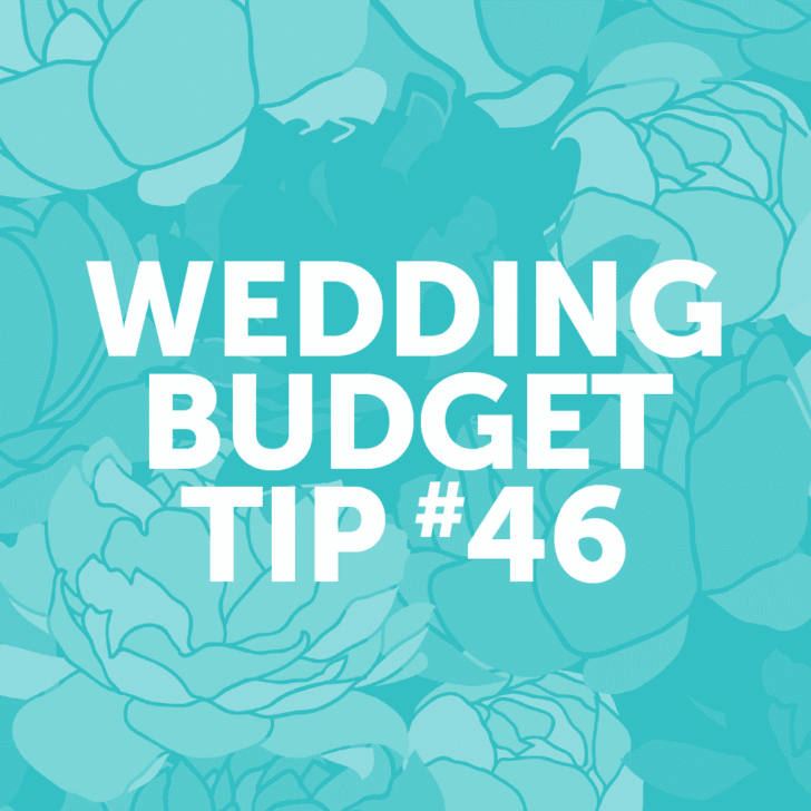 Wedding Budget Tip #46: Book your wedding photographer for fewer hours.