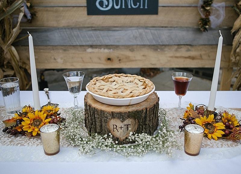 bride and groom pie