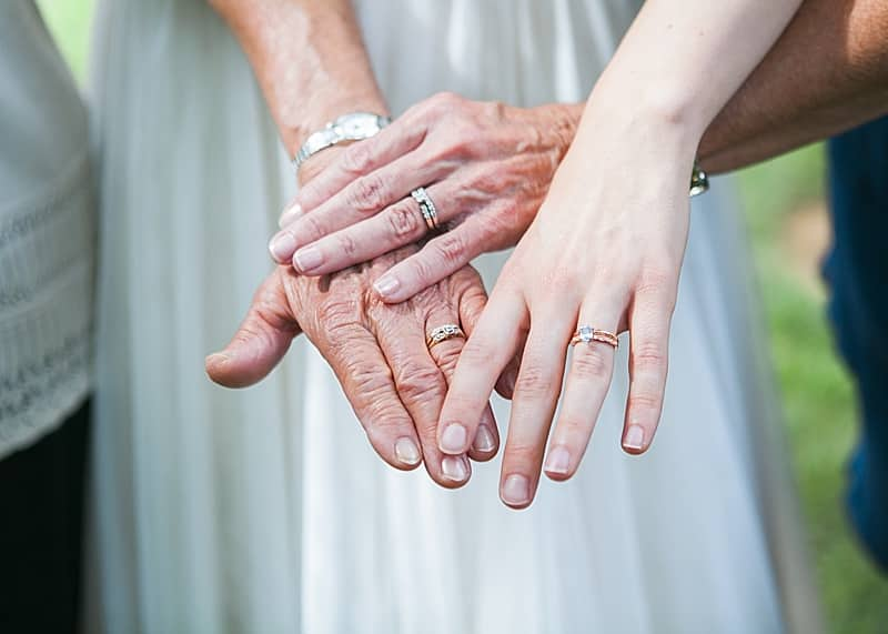 multi-generational wedding shot