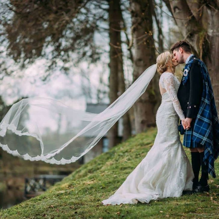 long handmade veil from etsy