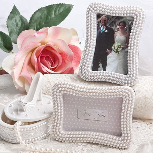 pearl photo frame wedding favors