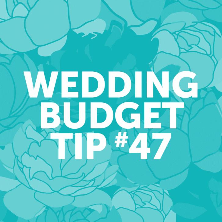 Wedding Budget Tip #47: Go for buttercream over fancy fondant. Tastes better anyway!