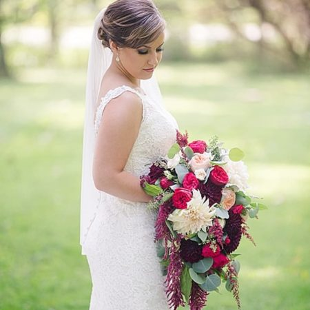 elegant bridal look