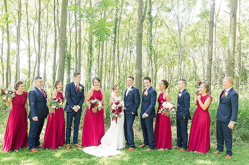 red wedding attire