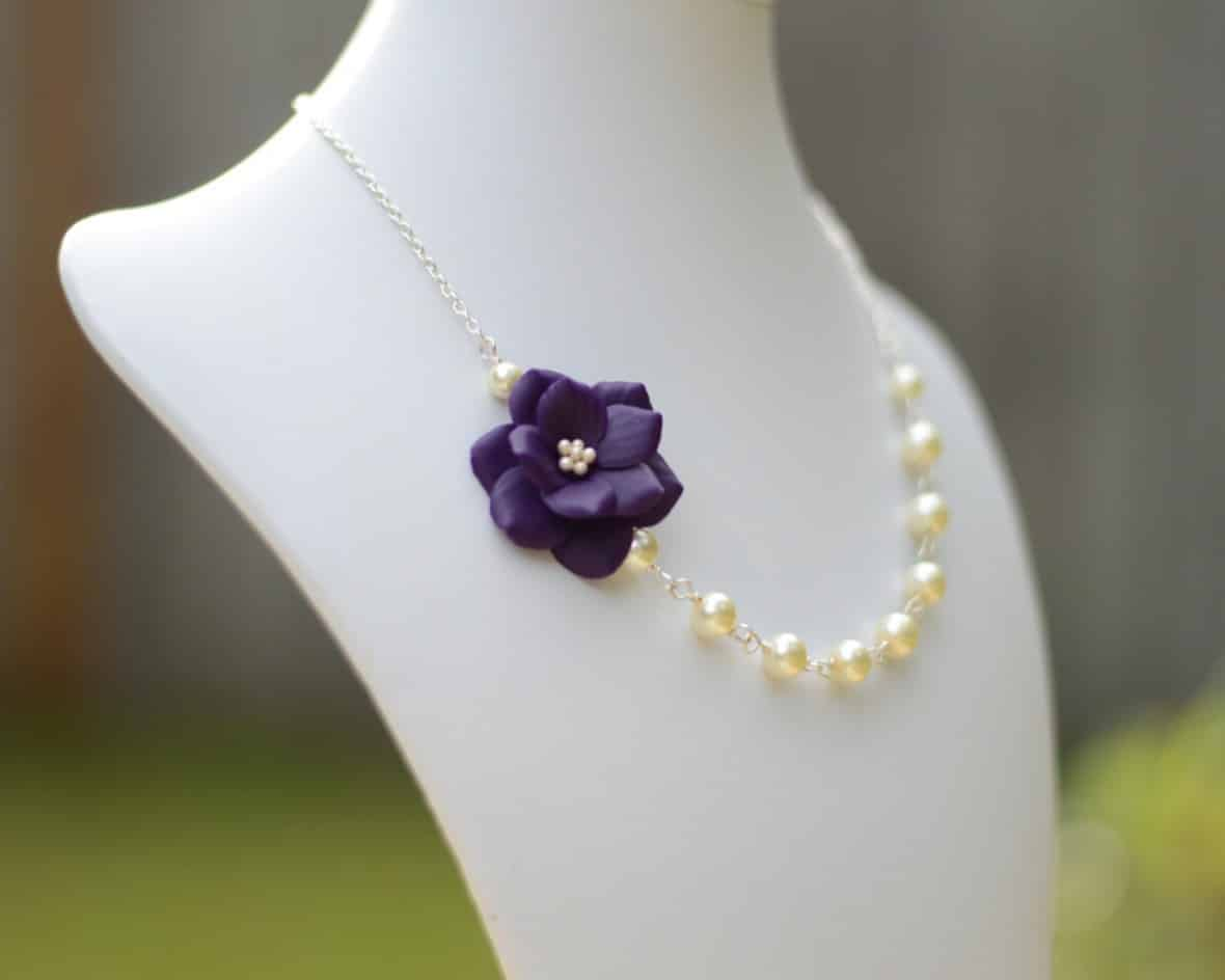Garden Rose Necklace (w/ Free Earrings) by MorningHeirloom