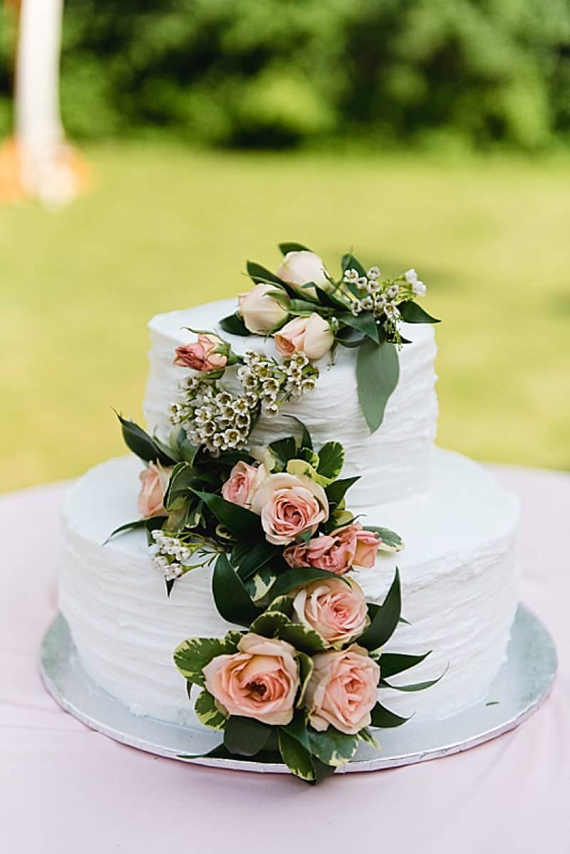 Gray and Blush Wedding at Home | The Budget Savvy Bride