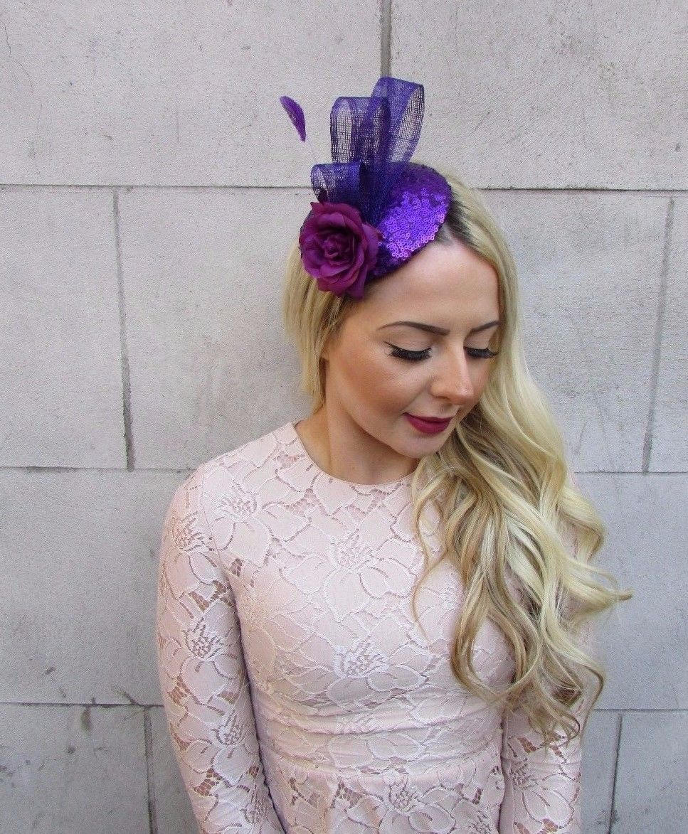 Sequined and Feathered Flower Fascinator byStarcrossedbeauty