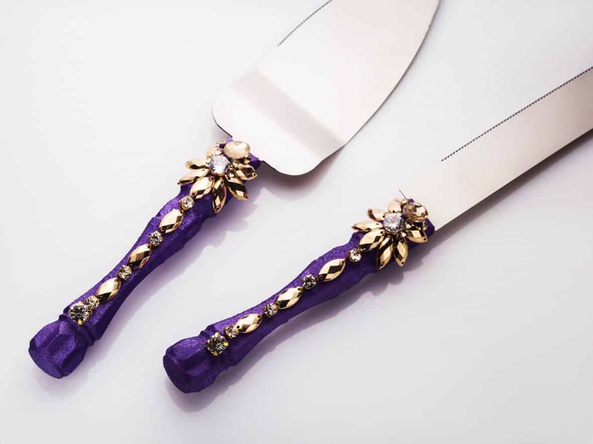Wedding Cake Serving Set by WeddingGlassesDesign