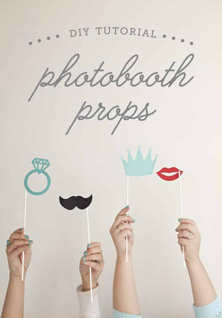 Jen and Ilove collaborating on DIY projects, and today we're sharing a super simple and awesome one on both our sites: How to easily make your own photo booth stick props!