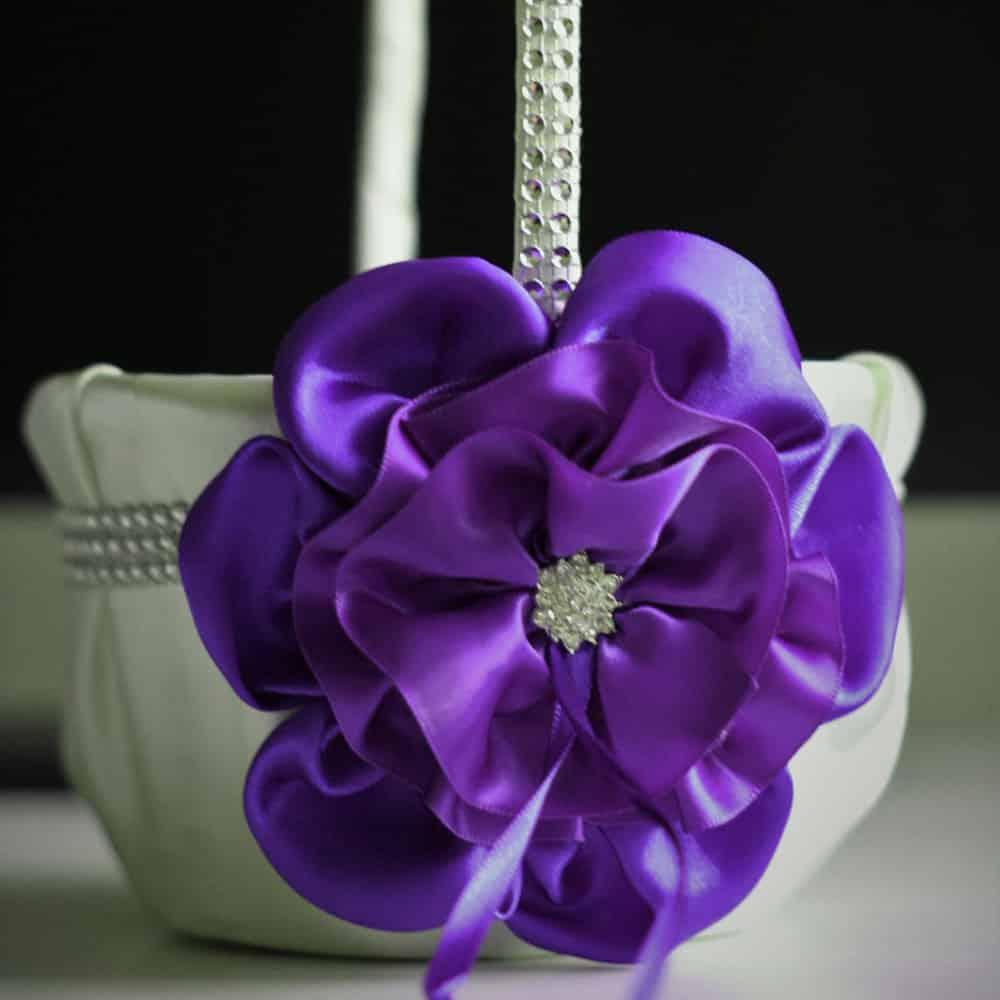 Ultra Violet Wedding or Flower Girl Basket by AlexEmotions