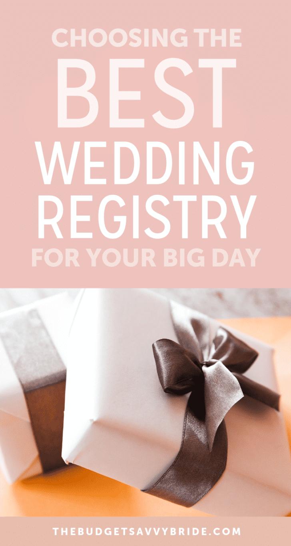 choosing the best wedding registry