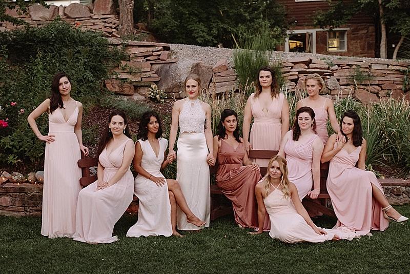 pink wedding attire