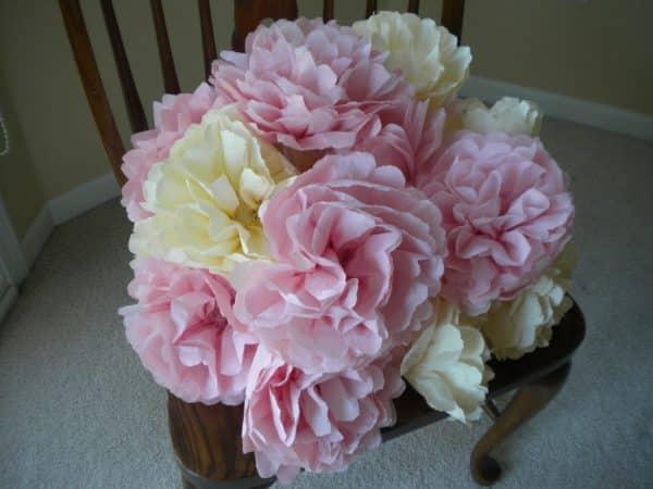 DIY Paper Flower Poofs