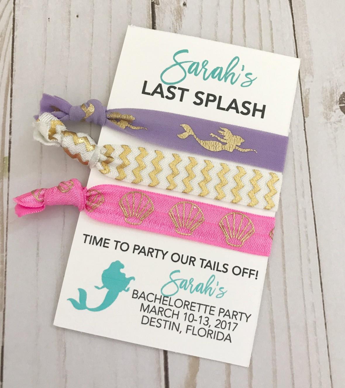 Last Splash Mermaid Bachelorette Party Hair Ties by PoppyandErie
