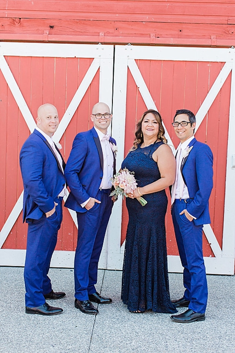 blue groomsmen attire