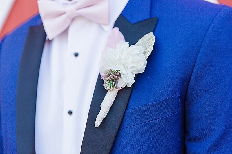 blue groomsmen attire