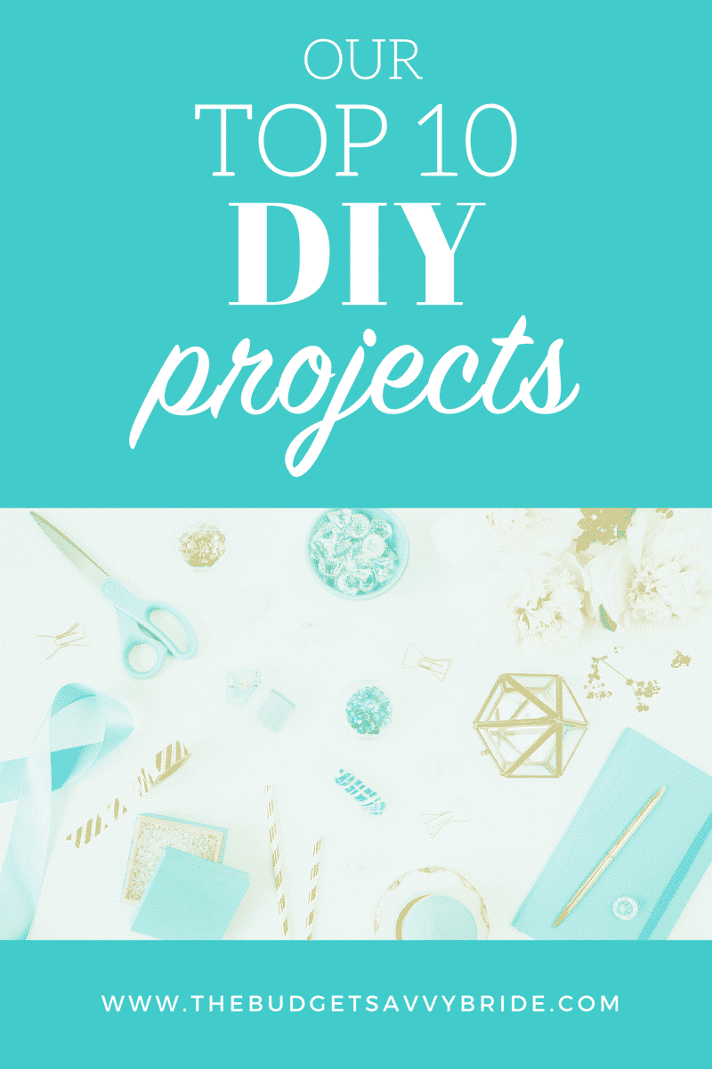 Check out our top ten DIY wedding projects to save big bucks on your special day, while making your reception and ceremony extra unique.