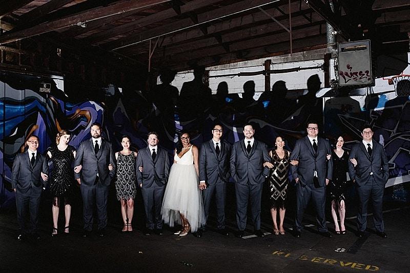black wedding attire