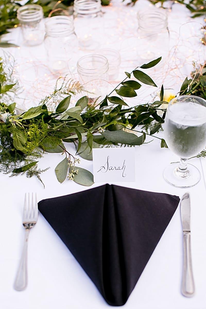 wedding place setting