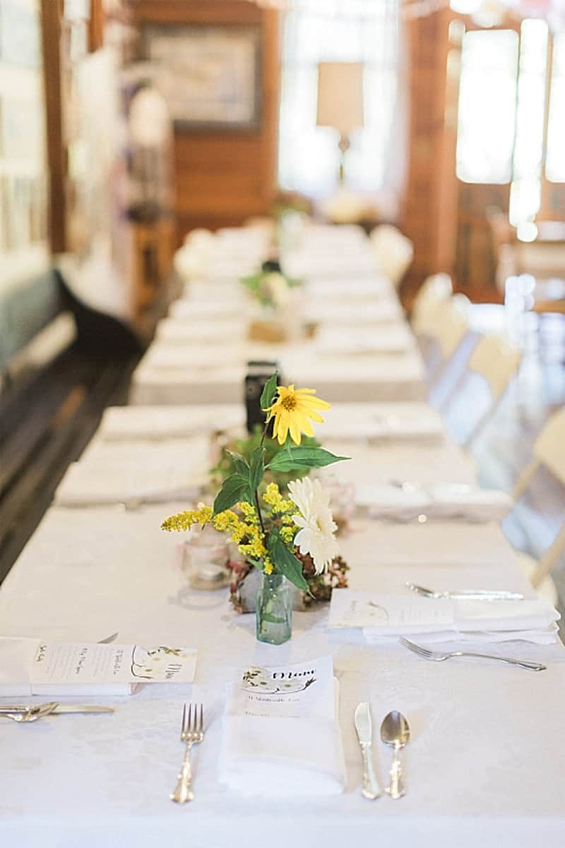 mercantile wedding reception