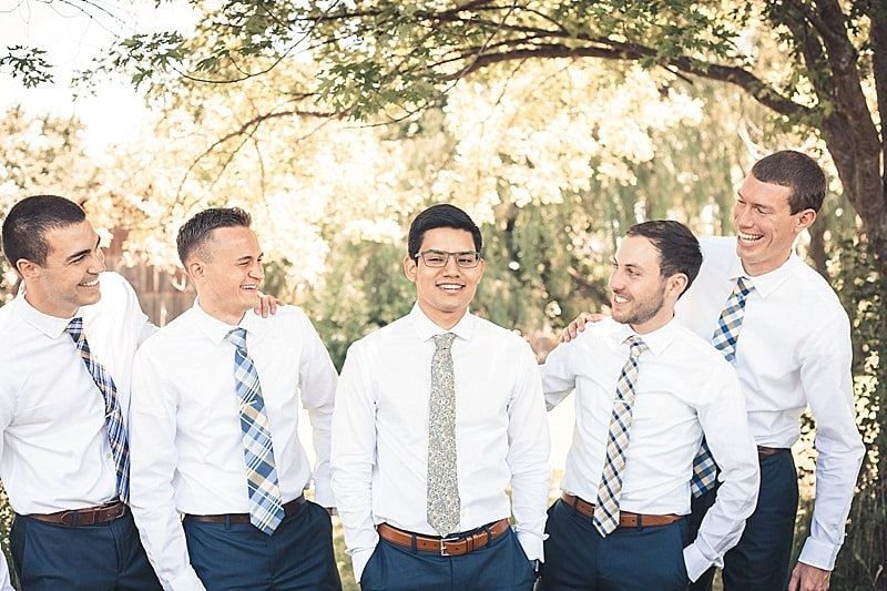 shirt and tie groom attire
