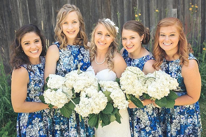 flowered bridesmaid dresses