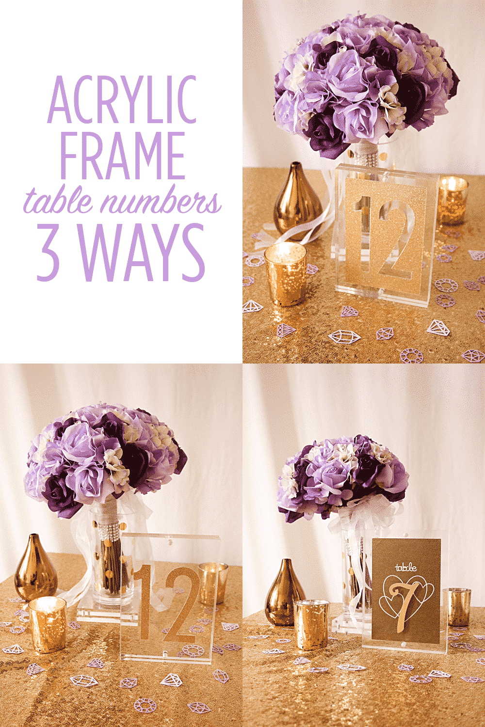 Acrylic Frame Table Numbers, Three Ways with the Cricut Explore Air
