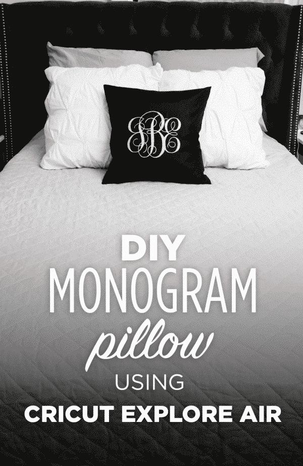 Glitter Monogram Pillow using the Cricut Explore Air