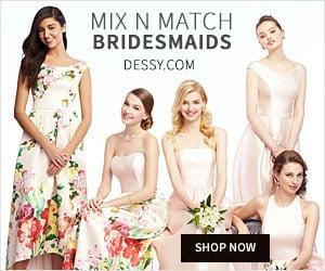 Dessy Mix and Match Bridesmaids Dresses