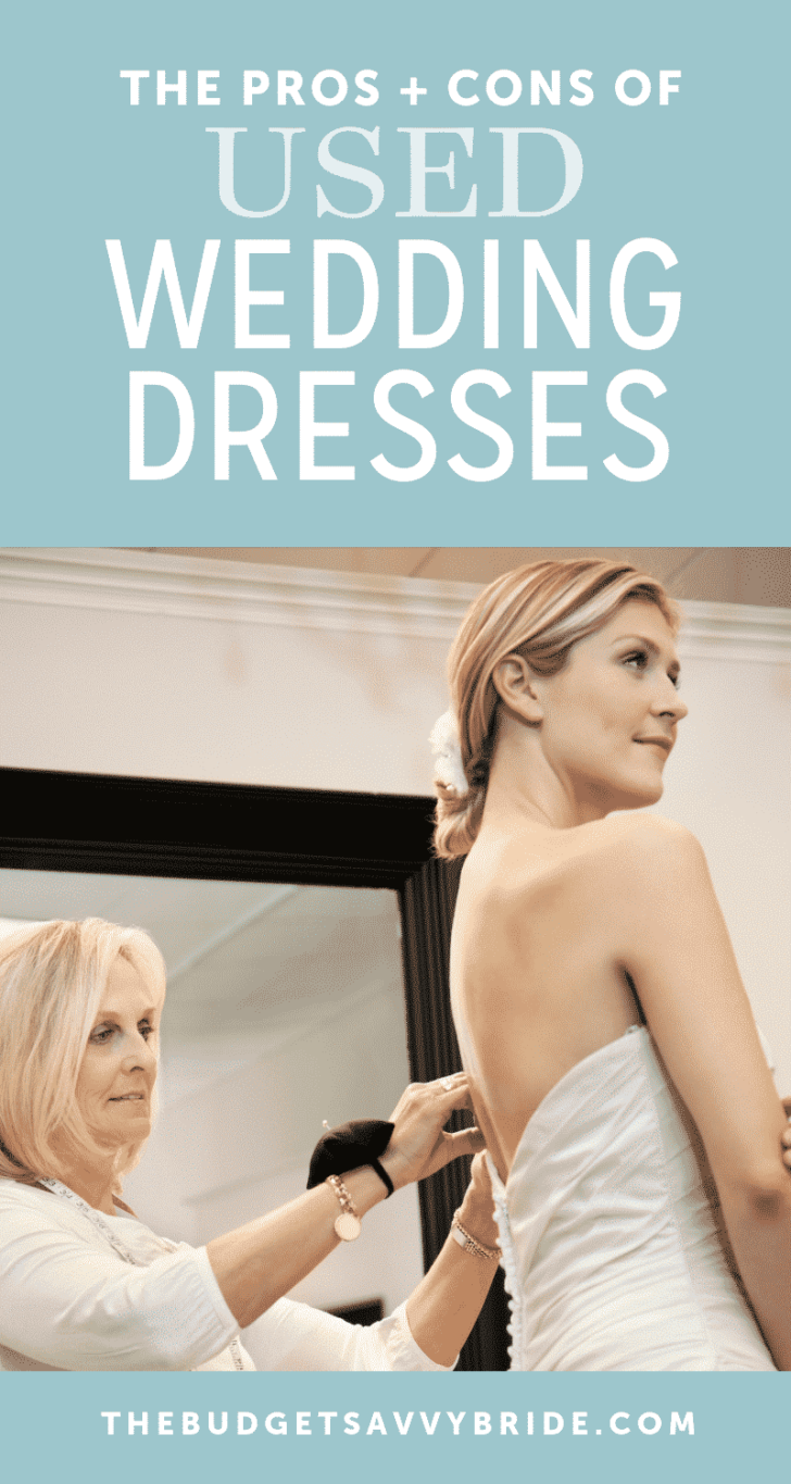 pros and cons of buying a used wedding dress