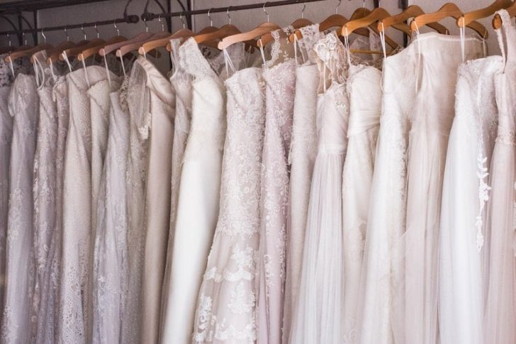 shopping for a used wedding dress