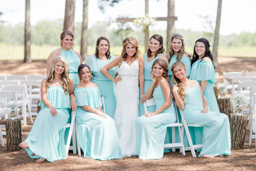 wedding photos, bridesmaids