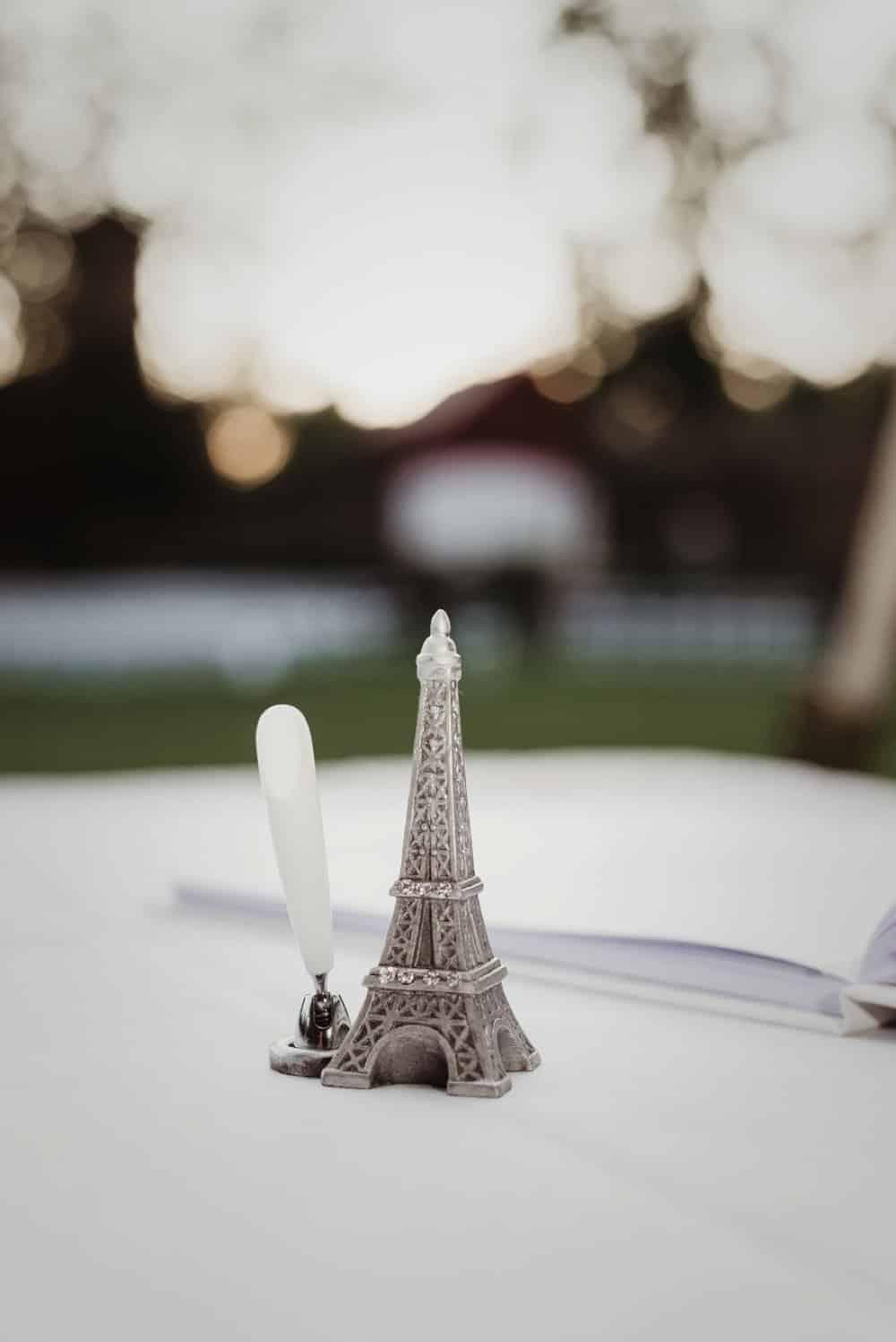 paris themed wedding details