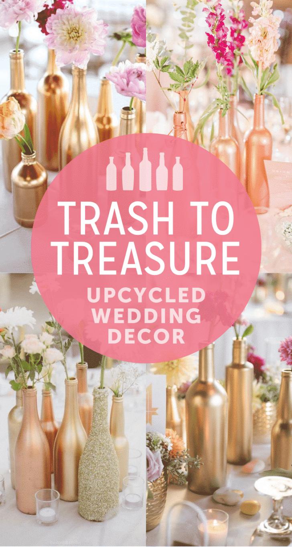 upcycled wedding decor ideas