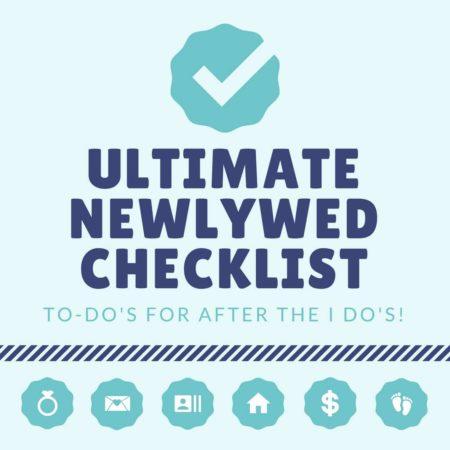 ultimate newlywed checklist